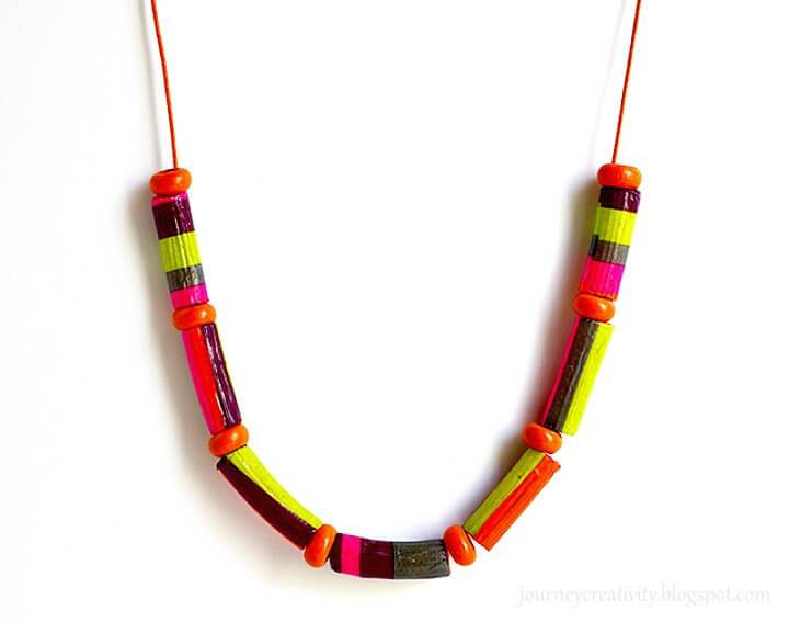 How to DIY Rigatoni Necklace