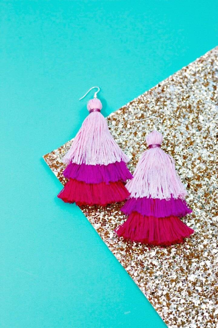Cute DIY Tassel Earring Tutorial