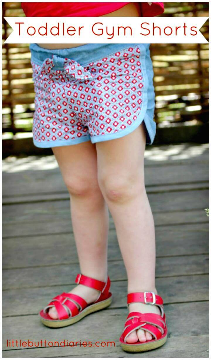 Cute DIY Toddler Gym Shorts
