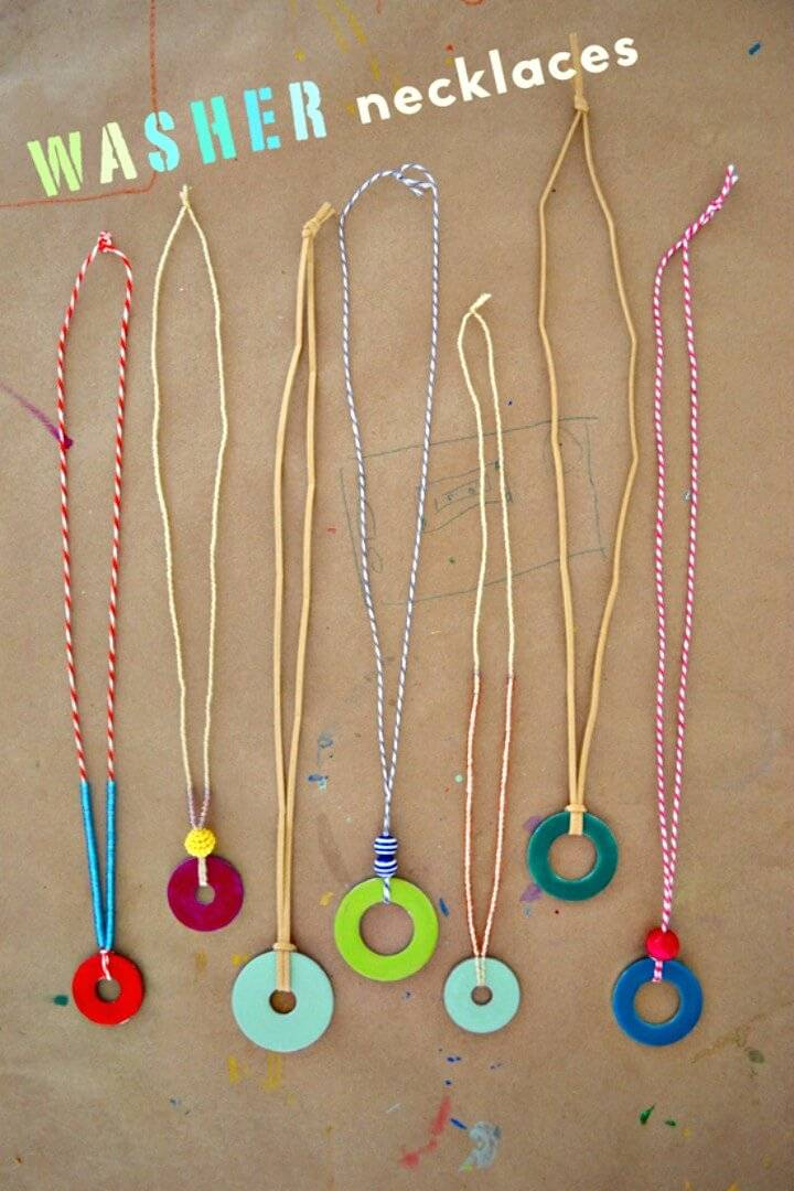 Cute DIY Washer Necklaces