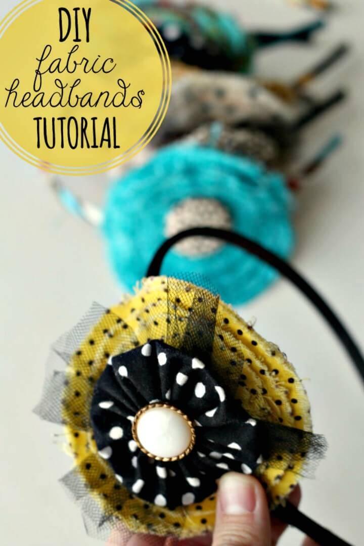 Cute DIY Fabric Flower Headband
