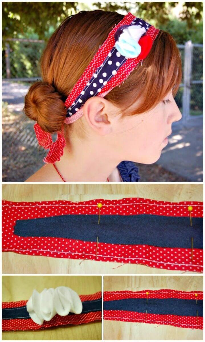 How To Make Patriotic Headband Tutorial - DIY