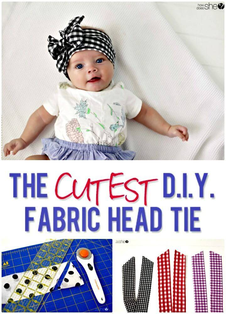 Cutest DIY Fabric Head Tie for Your Kids