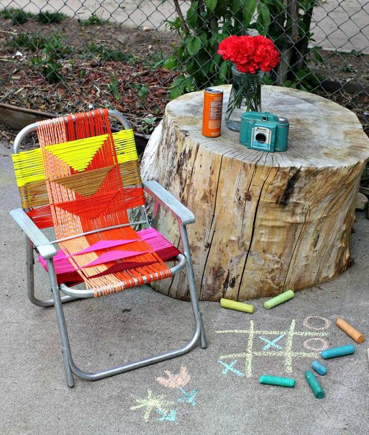 Easy DIY Aluminum Chair Makeover For Backyard