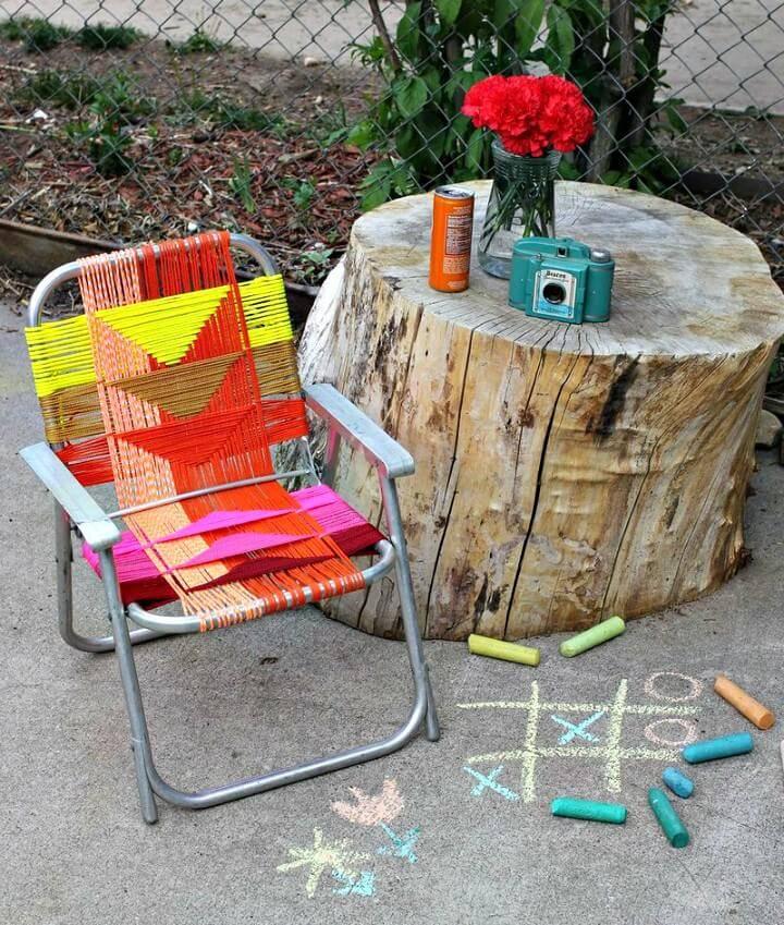 Easy DIY Aluminum Chair Makeover For Backyard