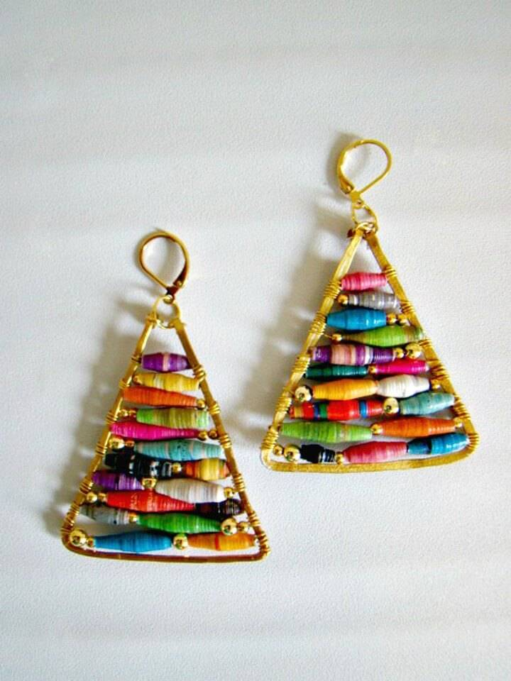 DIY Anthropologie's Hue Pyramid Earrings