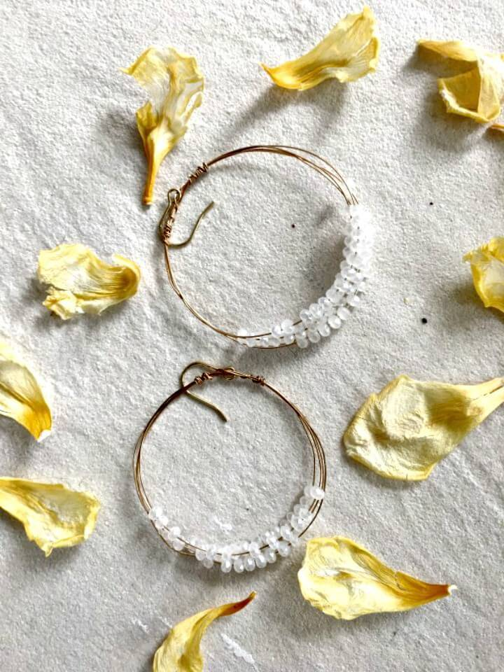 Easy DIY Anthropologie Inspired Hoop Earrings