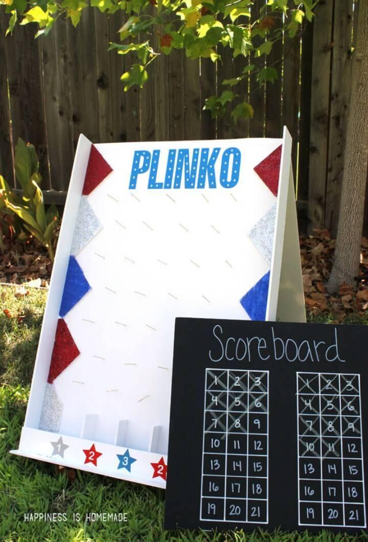 DIY Backyard Plinko Party Game Tutorial