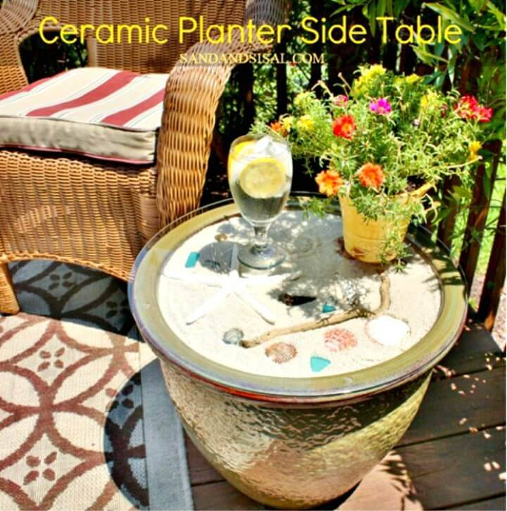 DIY Ceramic Planter Side Table Tutorial