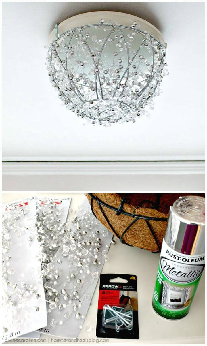 Easy DIY Chandelier In An Hour - Indoor Lighting Ideas