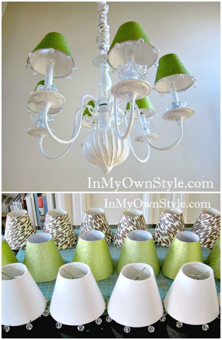 Make Chandelier Shades & Covers - DIY Indoor Lighting Ideas
