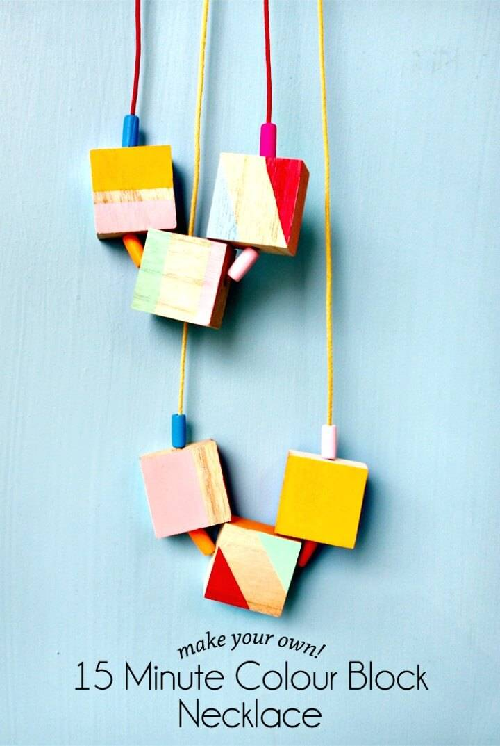 DIY Colour Block Necklace in 15 Minutes