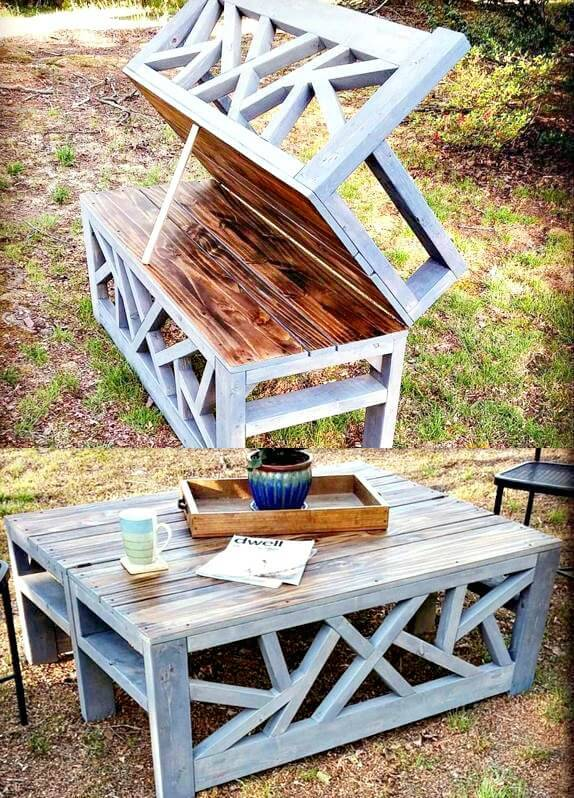 DIY Convertible Bench or Coffee Table For Your Backyard