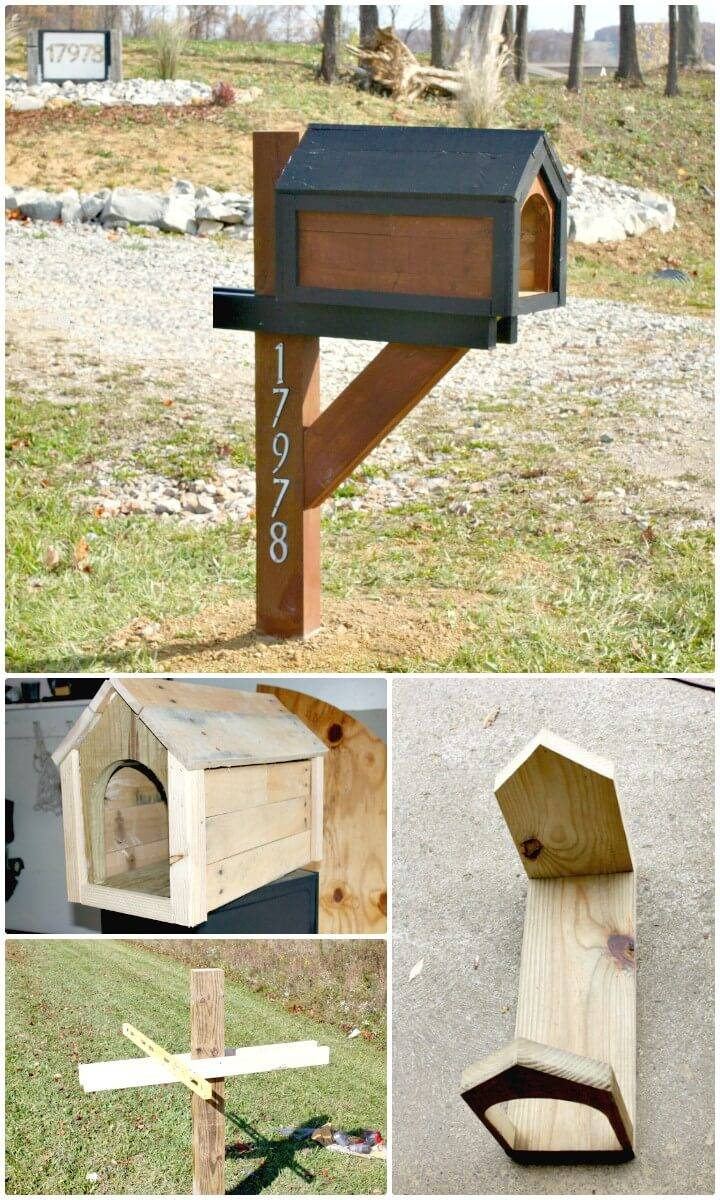 DIY Cool Mailbox From A Pallet For Under $13