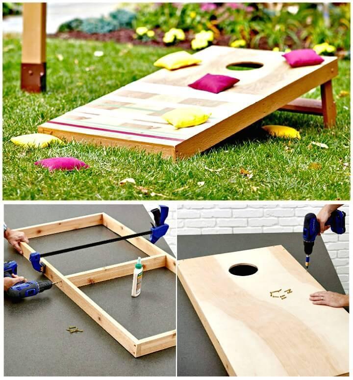 Adorable DIY Cornhole Board Plans