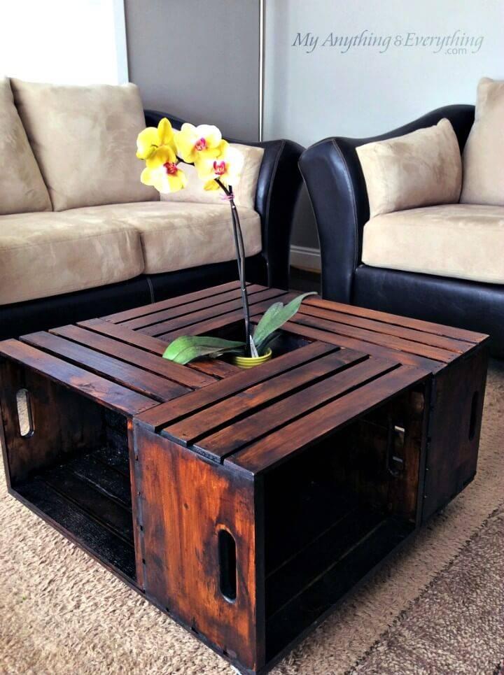 DIY Crate Coffee Table Tutorial