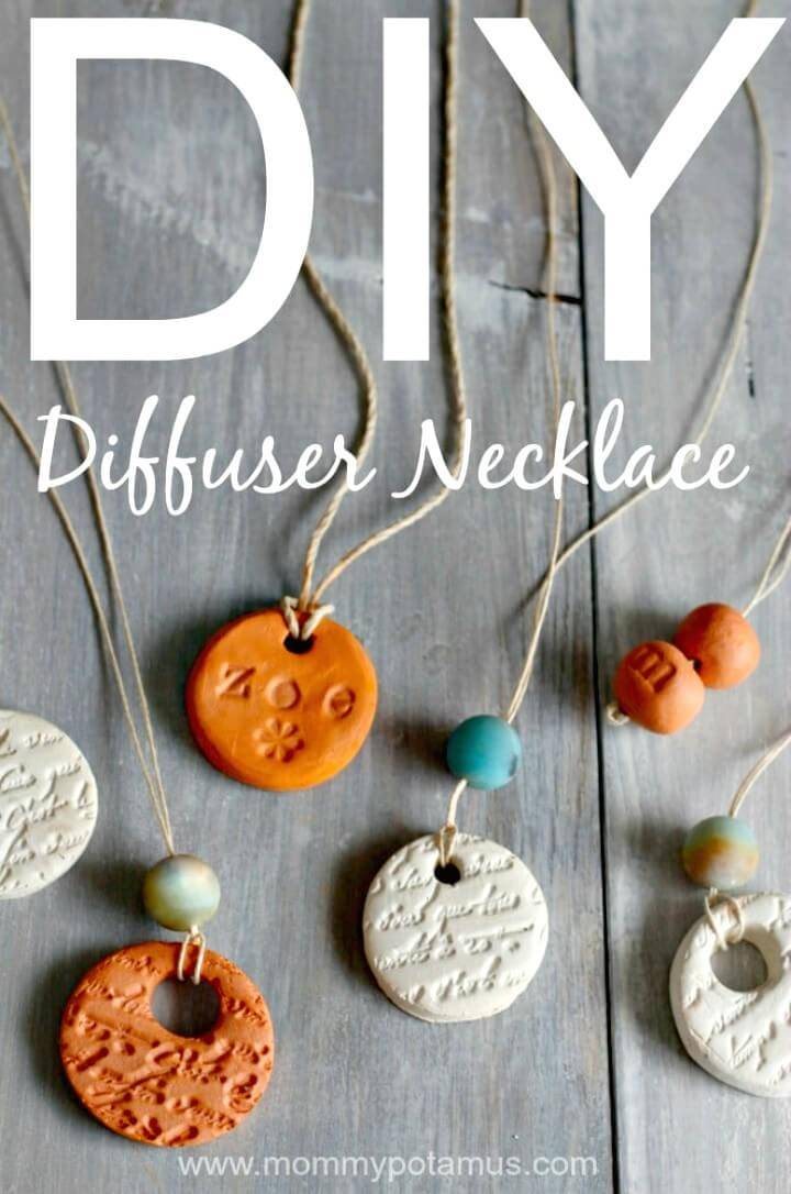 How to Make Diffuser Necklace - DIY