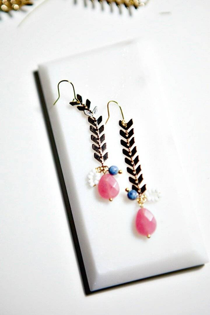 DIY Fishbone Earrings Tutorial