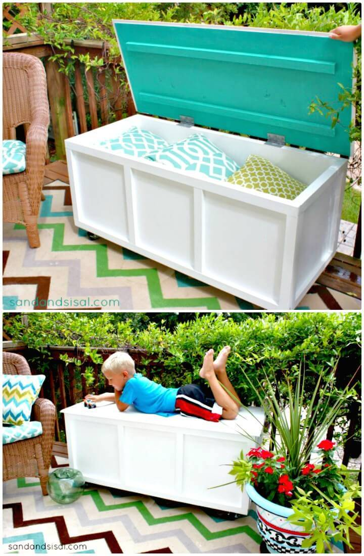How to Build Garden Storage Box Bench - DIY Garden Furniture Ideas