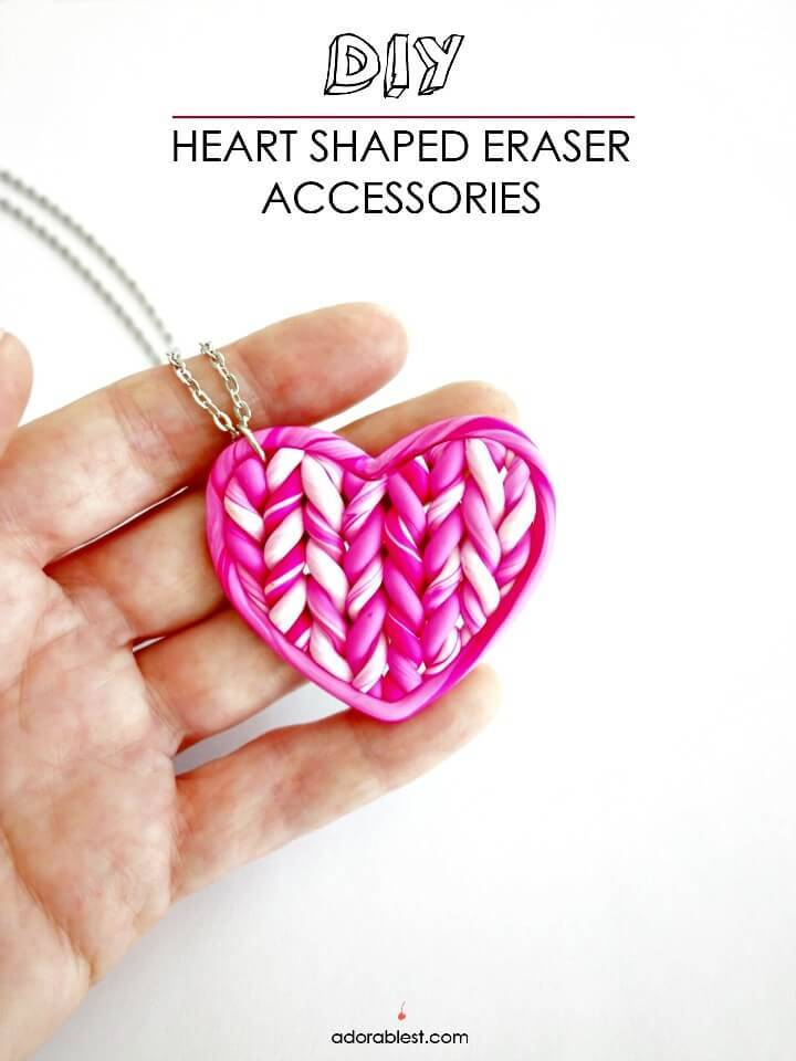 DIY Eraser Clay Necklace - Gift Idea