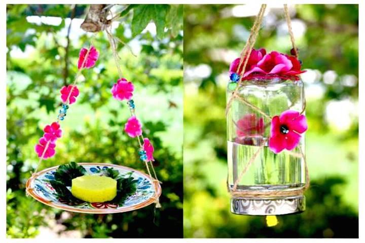 DIY Homemade Butterfly Feeder - Backyard Ideas