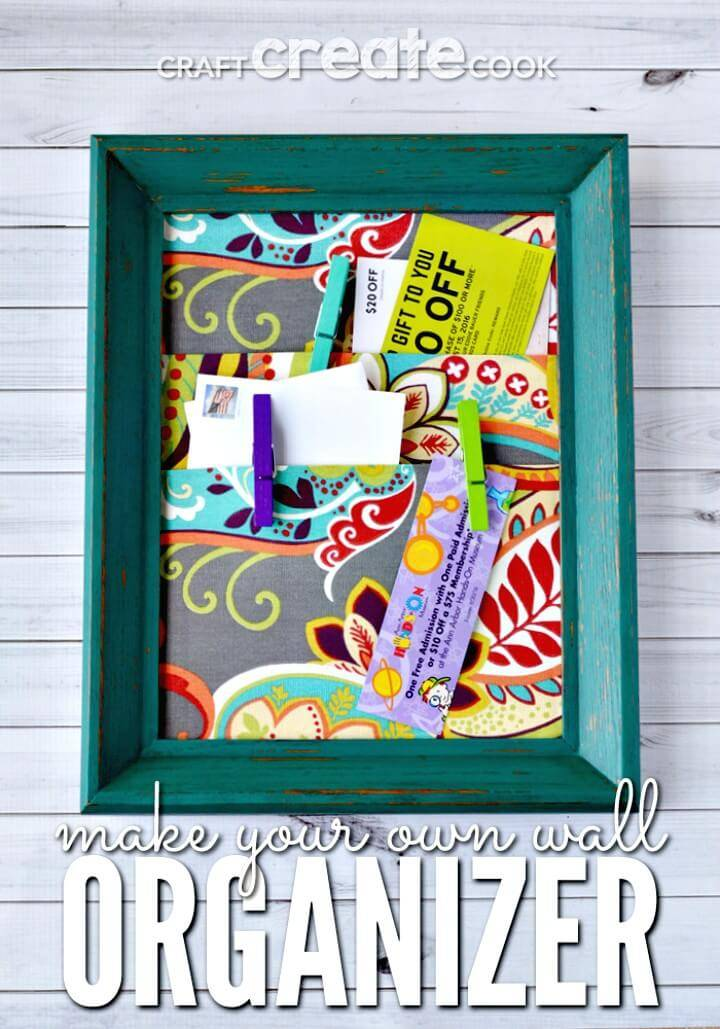 Easy DIY Homemade Wall Organizer