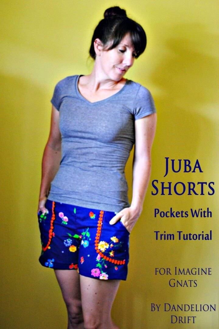 DIY Juba Shorts Pockets With Trim