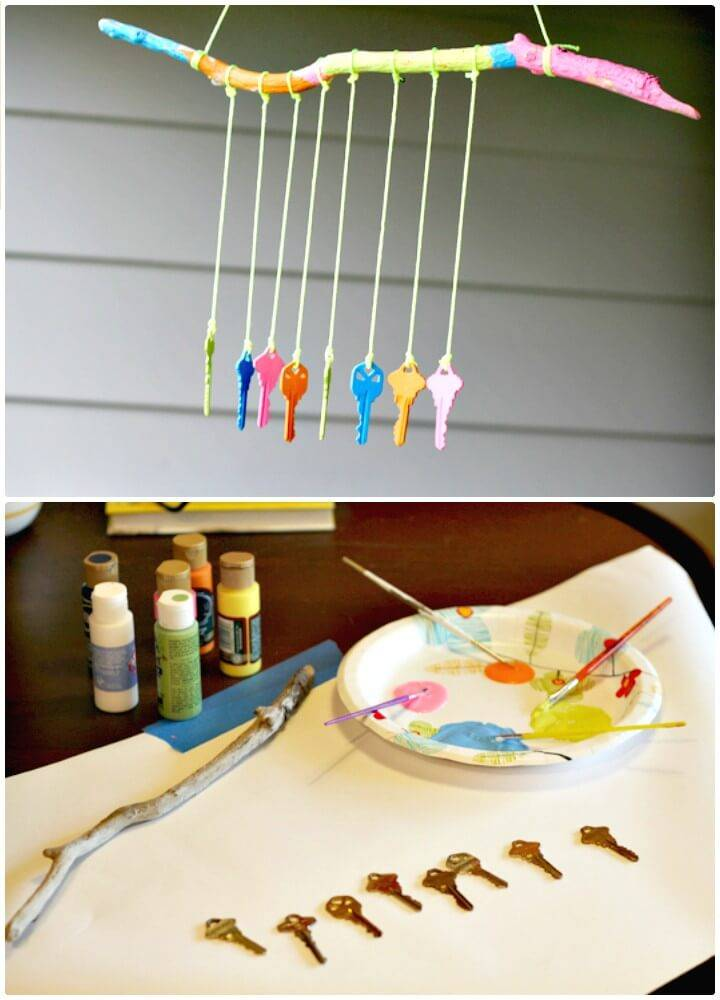 DIY Key Wind Chime for Your Backyard
