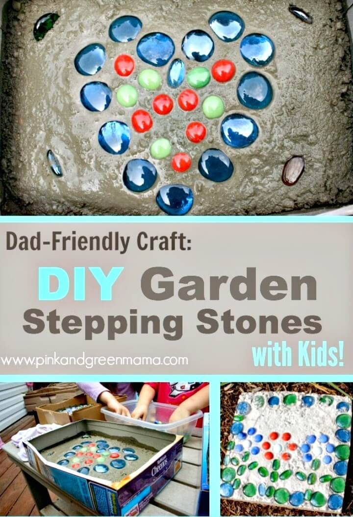 DIY Kid-friendly Cement Stepping Stones For Your Yard