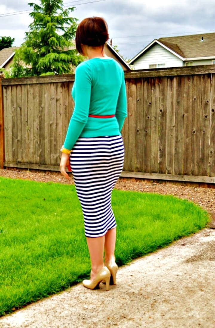 Adorable DIY Knit Pencil Skirt Tutorial