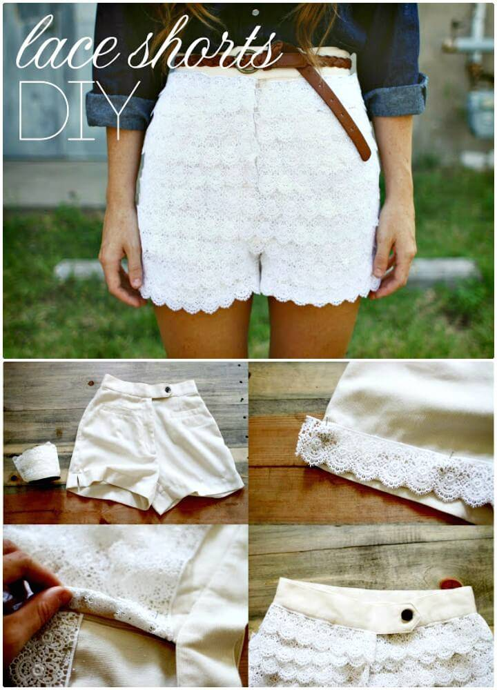 DIY Lace Shorts - Urban Outfitters Inspired