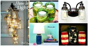DIY Mason Jar Lights – 74 Best Ideas to Light up Your Home
