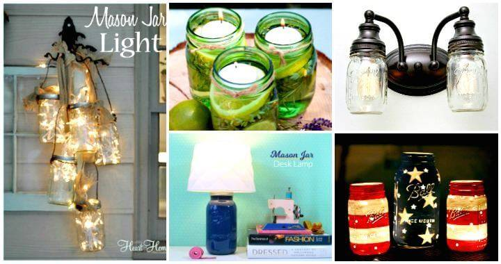 Diy Mason Jar Lights 74 Best Ideas To Light Up Your Home Diy Crafts