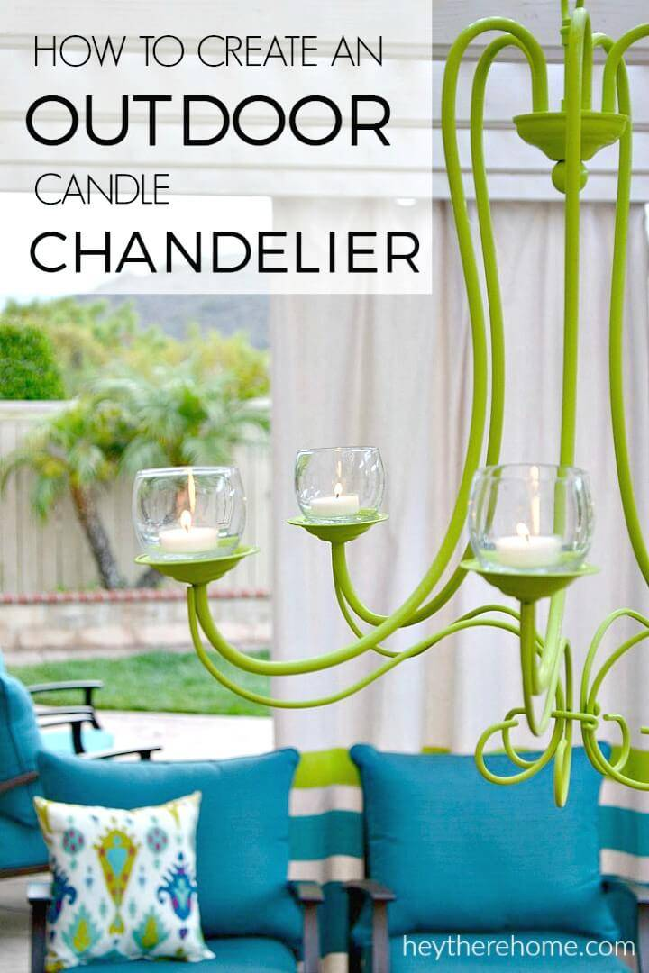 Create Your Own Outdoor Candle Chandelier - DIY