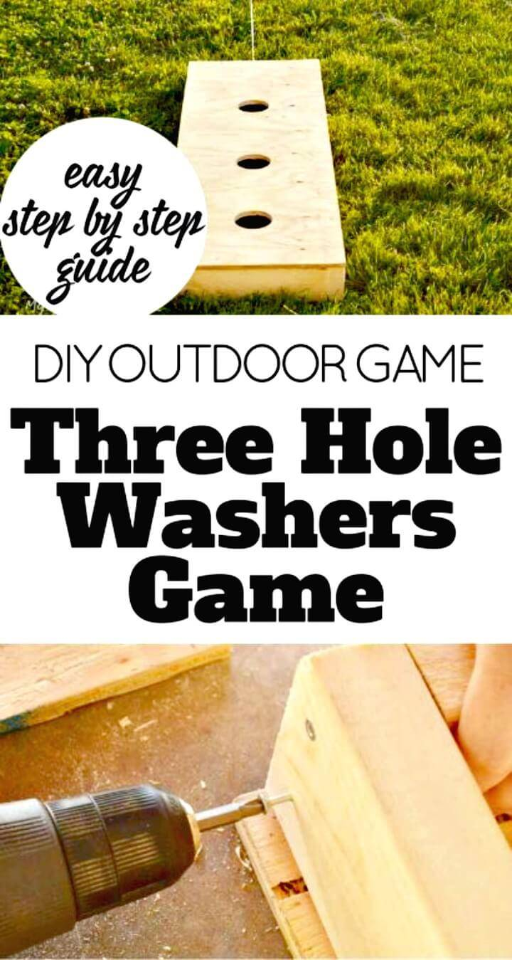 DIY Three Hole Washers Game - Outdoor Game