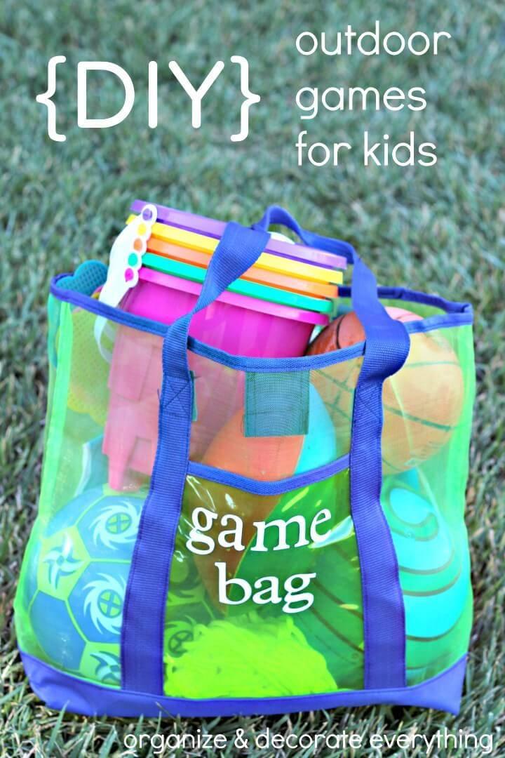 DIY Outdoor Games Bag for Kids - Outdoor Games