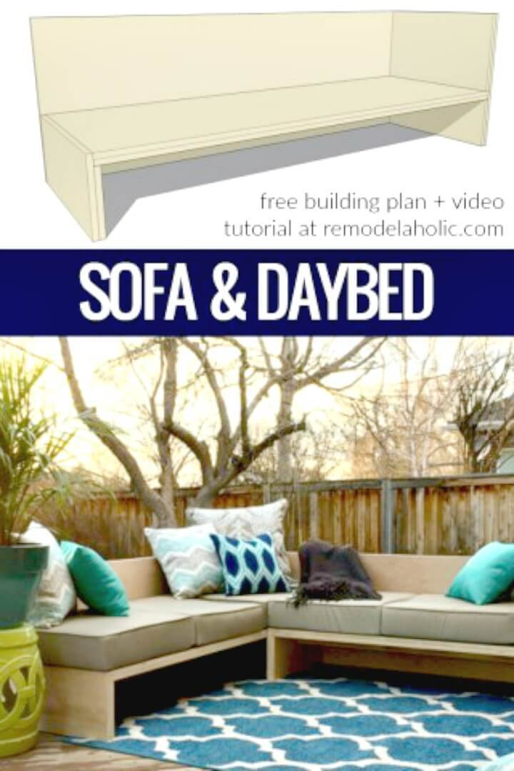 DIY Outdoor Sectional Sofa - Garden Furniture Ideas