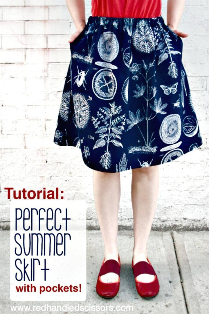 DIY Perfect Summer Skirt with Pockets