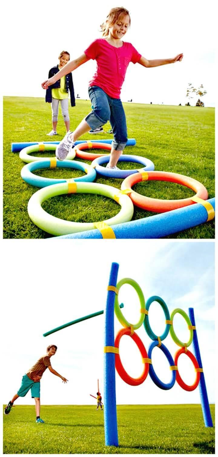 DIY Pool Noodle Backyard Games