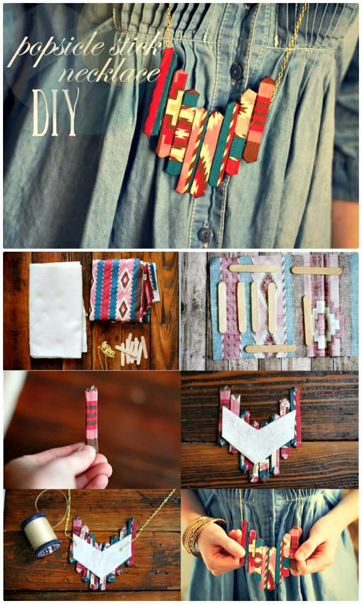 DIY Popsicle Stick Necklace