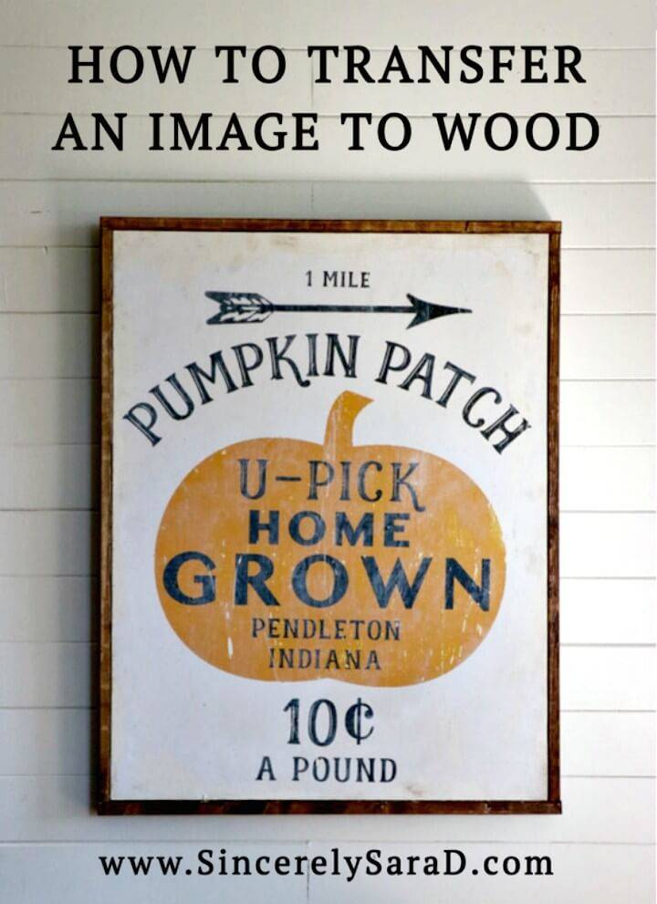 DIY Pumpkin Patch Printable & Transferring an Image To Wood