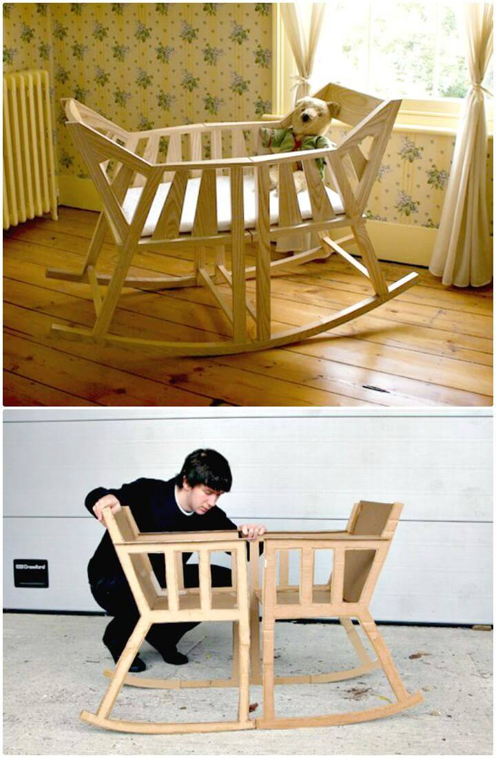 Build Rocking Cradle Out Of Rocking Chairs - DIY