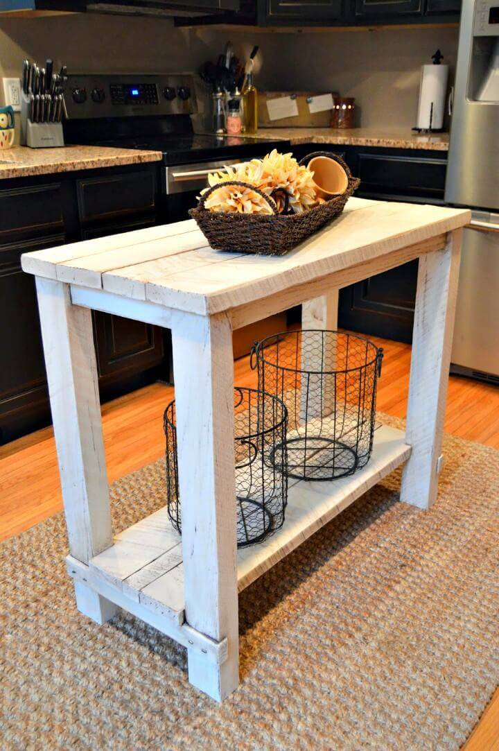 Easy DIY Rustic Reclaimed Wood Island