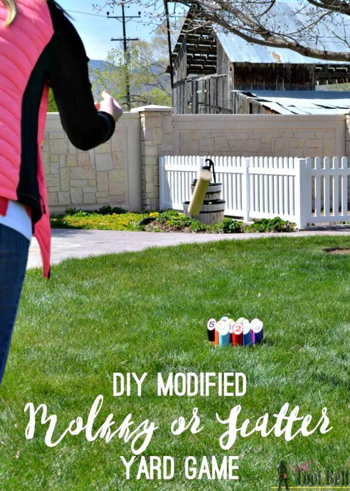 DIY Scatter Molkky Yard Game - Outdoor Games