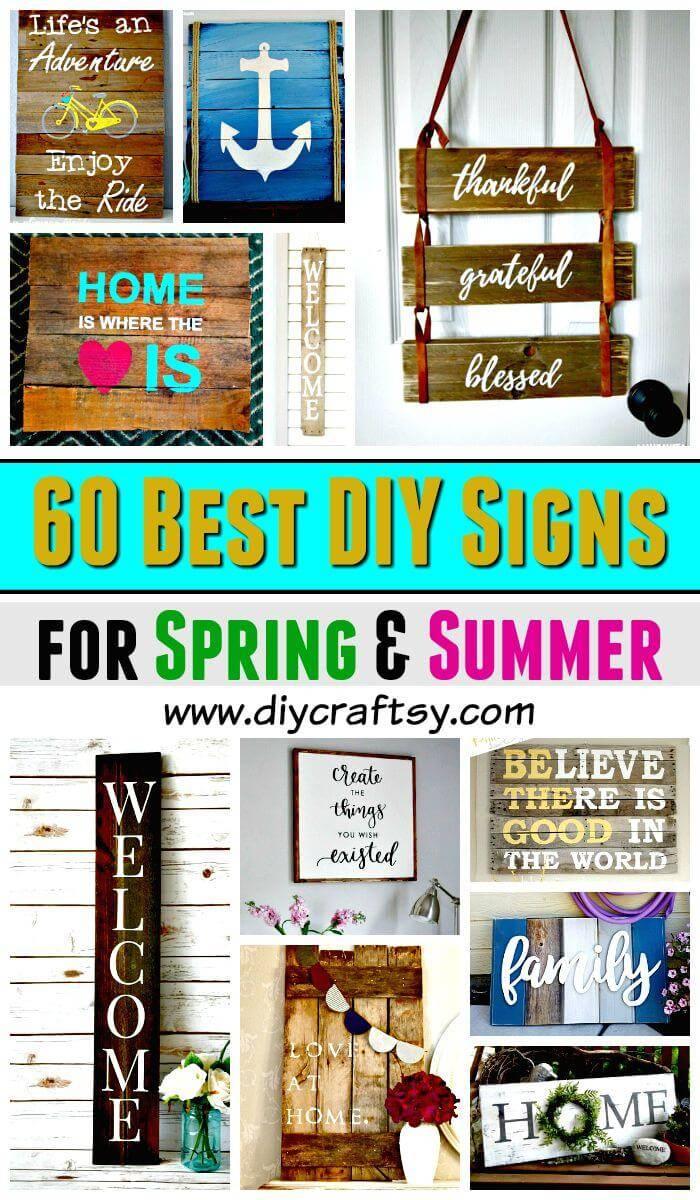 Diy Signs 60 Best Diy Sign Ideas For Spring Summer Diy Crafts