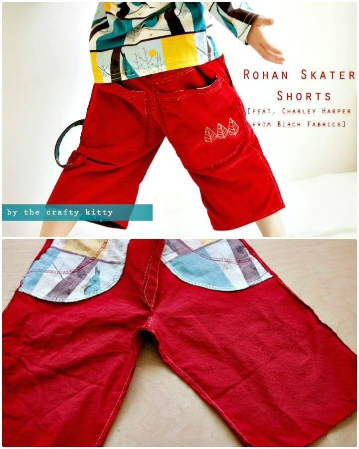 DIY Skater Shorts for Kids for Summer