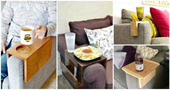 DIY Sofa Arm Table - DIY Sofa Snack Table - DIY Table Ideas - DIY Projects - DIY Crafts - DIY Ideas