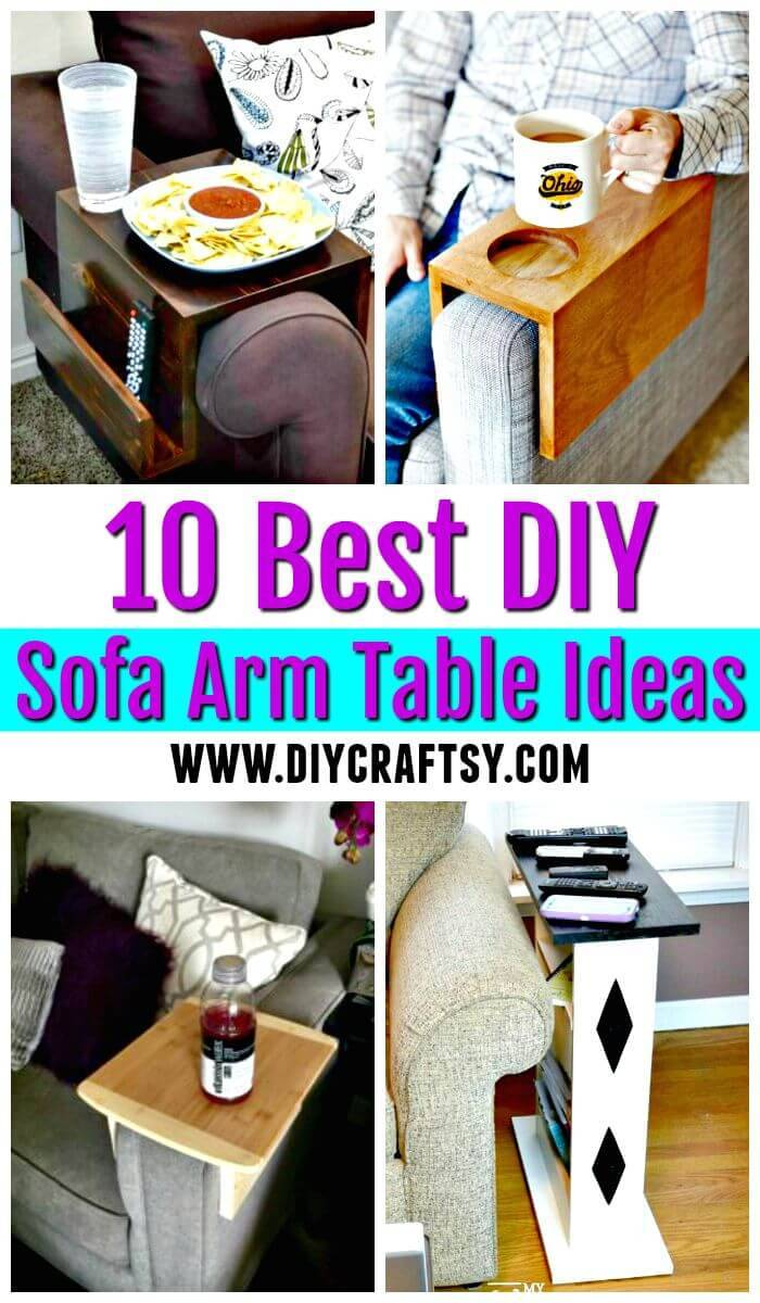 DIY Sofa Arm Table - DIY Sofa Snack Table - DIY Table Ideas - DIY Projects