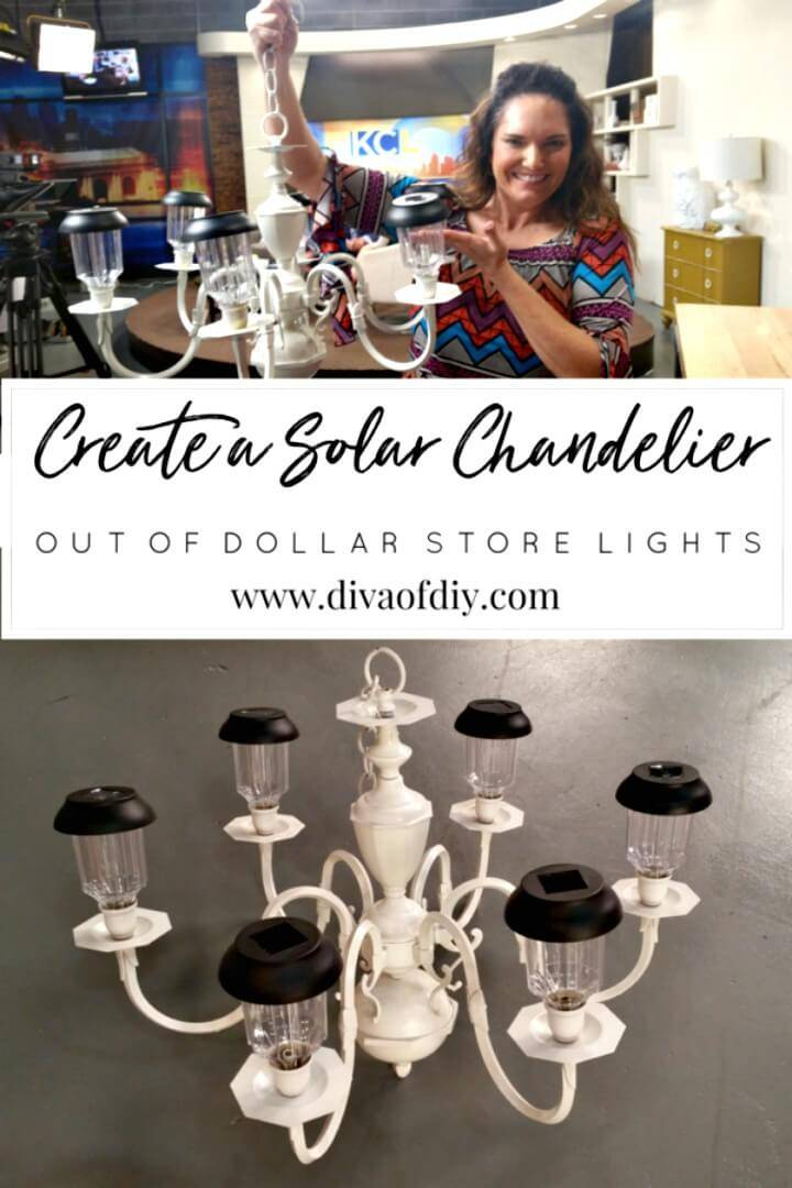 Simple DIY Solar Garden Chandelier
