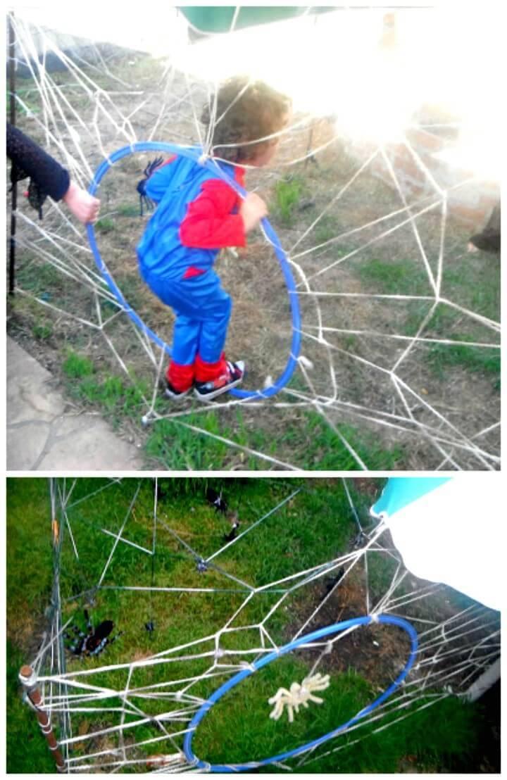 Adorable DIY Spider Cave Maze Game